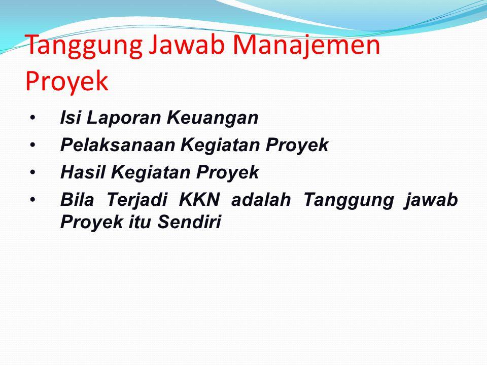 Tanggung Jawab Manajemen Proyek