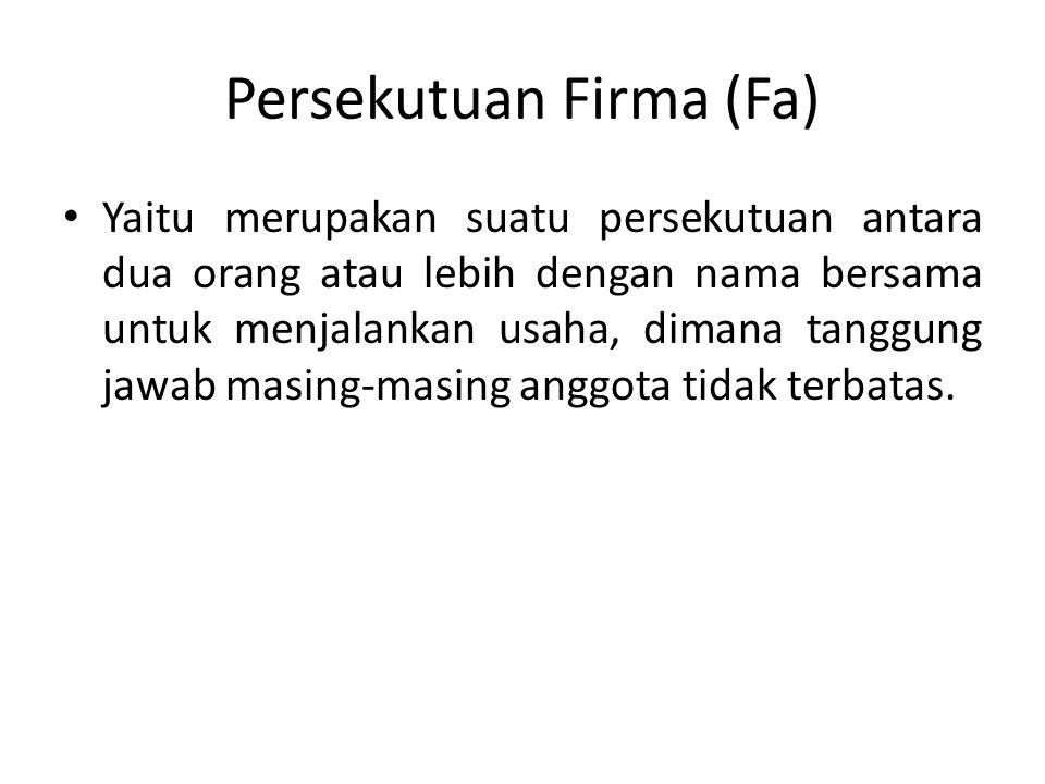 Persekutuan Firma (Fa)