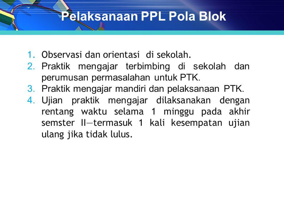 Pelaksanaan PPL Pola Blok