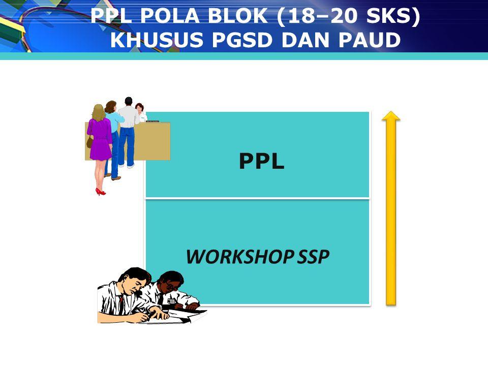 PPL POLA BLOK (18–20 SKS) KHUSUS PGSD DAN PAUD WORKSHOP SSP PPL