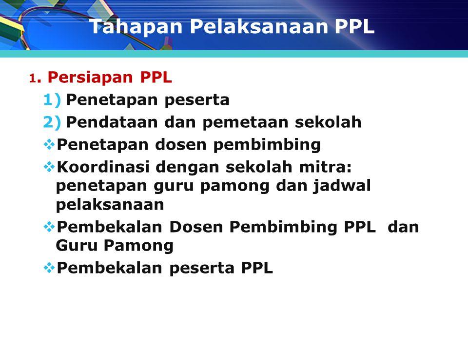 Tahapan Pelaksanaan PPL
