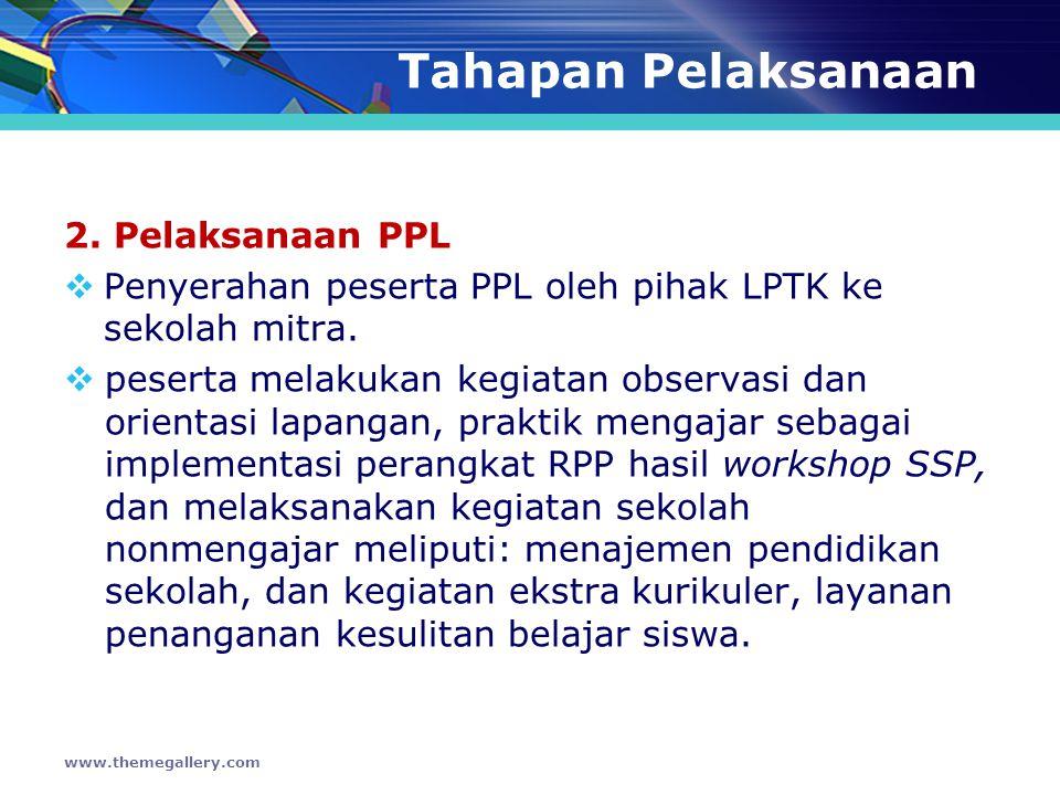 Tahapan Pelaksanaan 2. Pelaksanaan PPL