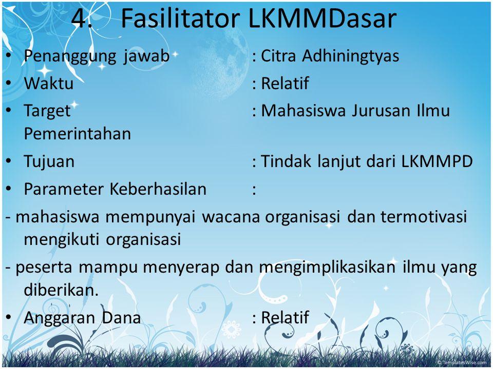 4. Fasilitator LKMMDasar