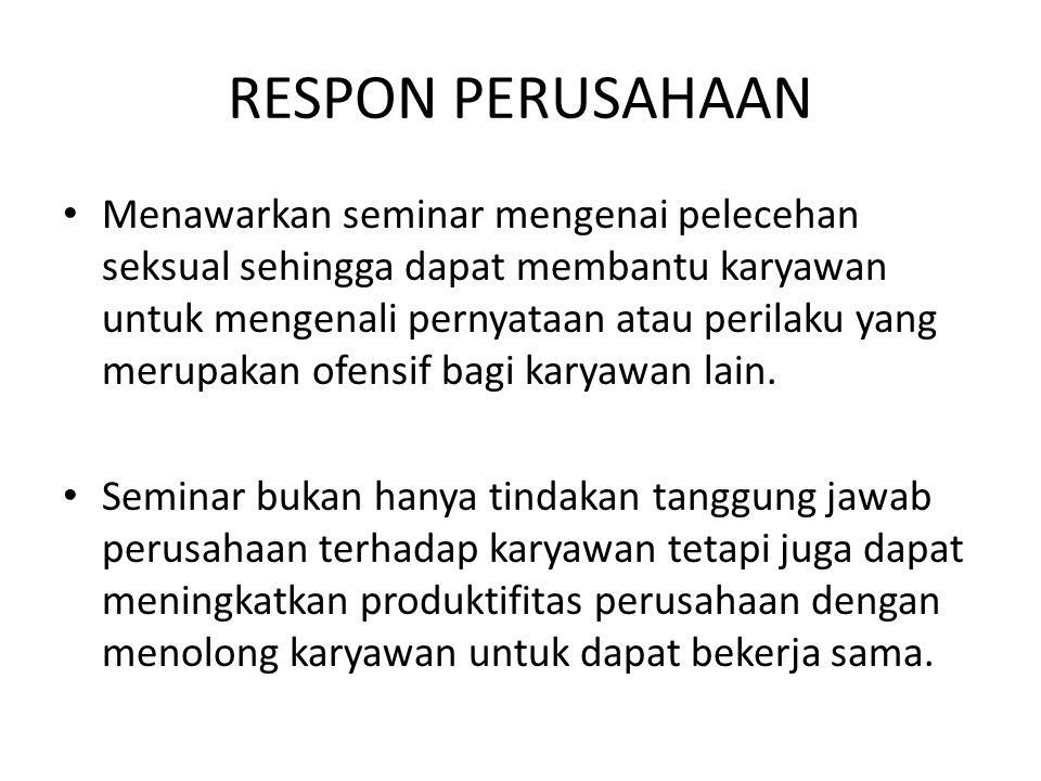 RESPON PERUSAHAAN