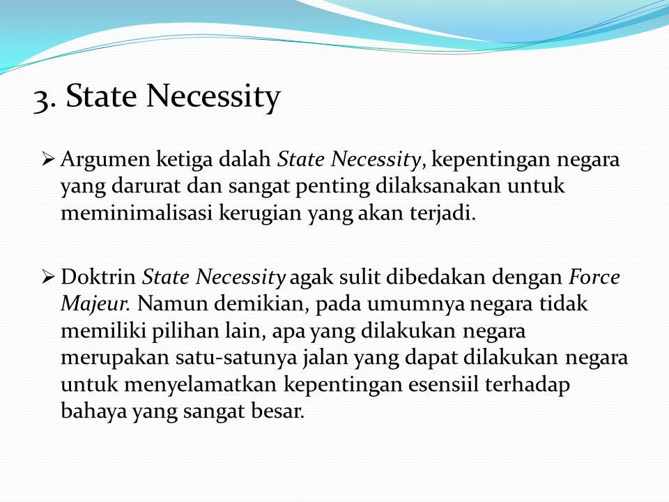 3. State Necessity