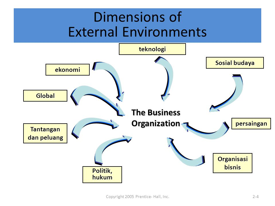 Dimensions of External Environments