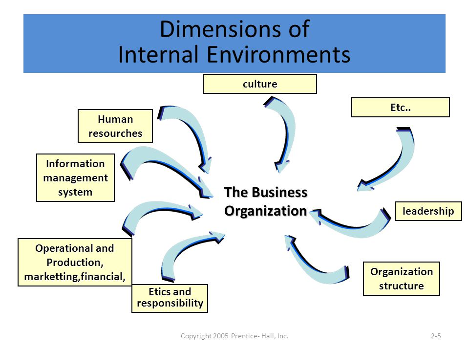 Dimensions of Internal Environments