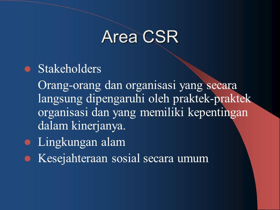 Area CSR Stakeholders.