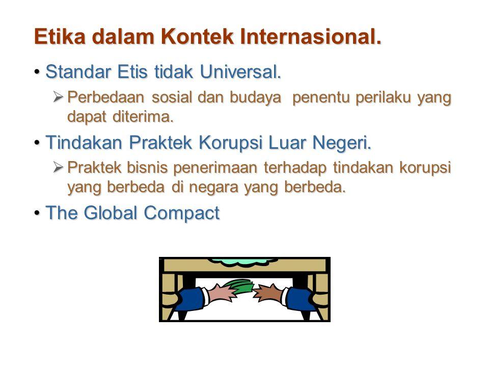 Etika dalam Kontek Internasional.