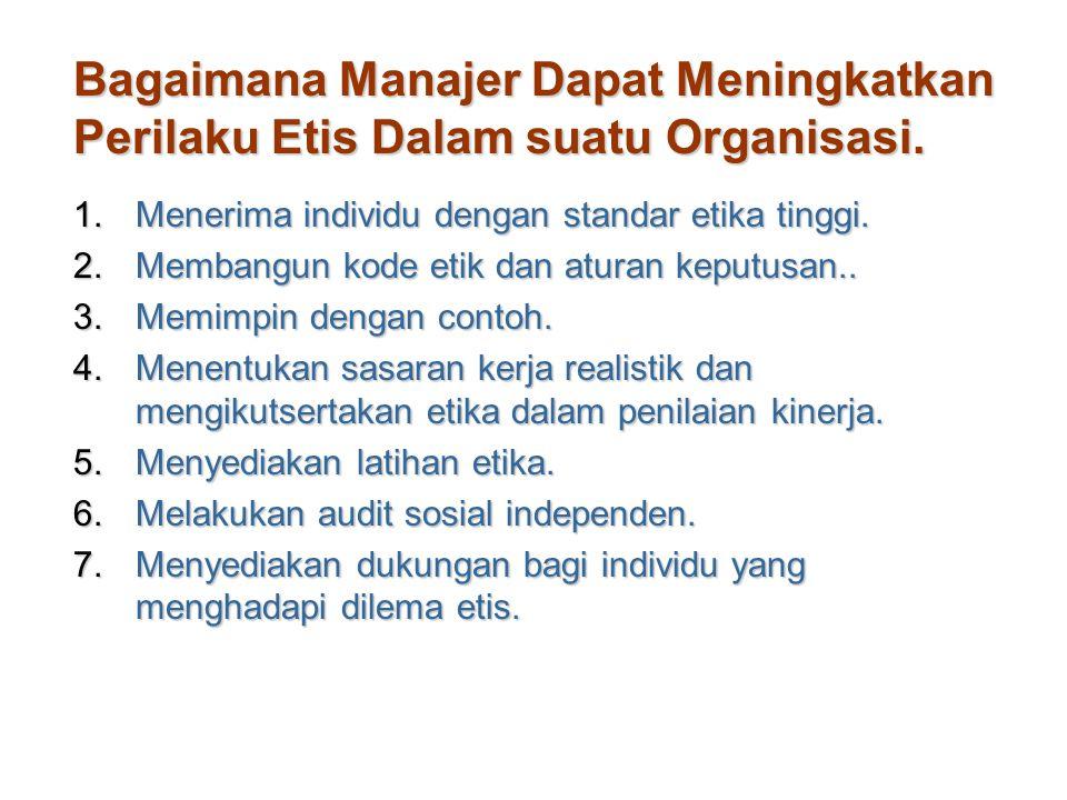 Bagaimana Manajer Dapat Meningkatkan Perilaku Etis Dalam suatu Organisasi.