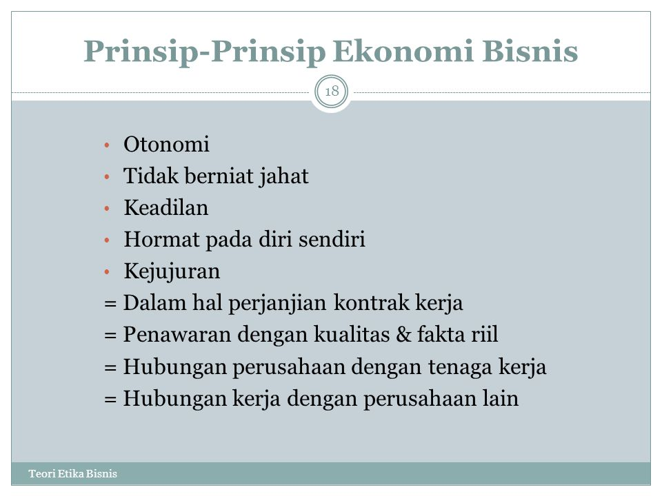 Prinsip-Prinsip Ekonomi Bisnis