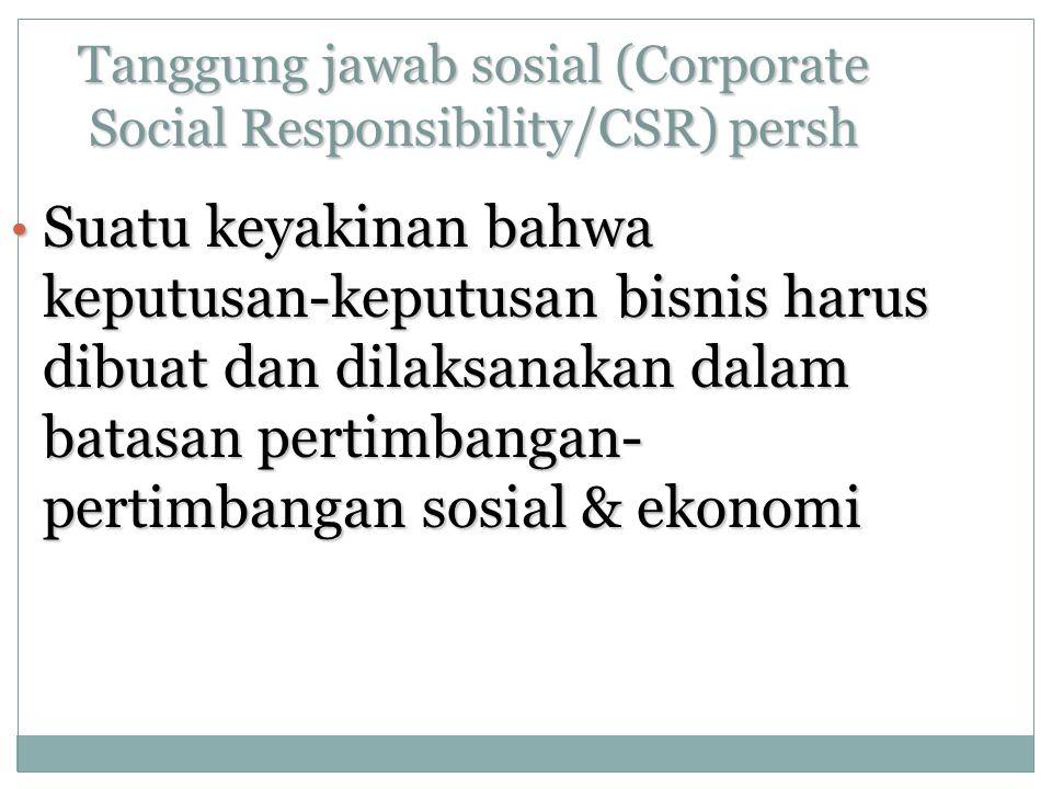 Tanggung jawab sosial (Corporate Social Responsibility/CSR) persh