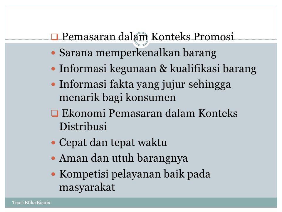 Sarana memperkenalkan barang Informasi kegunaan & kualifikasi barang