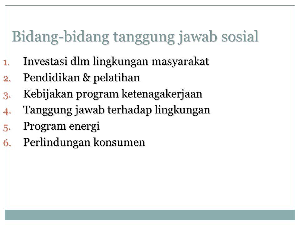 Bidang-bidang tanggung jawab sosial