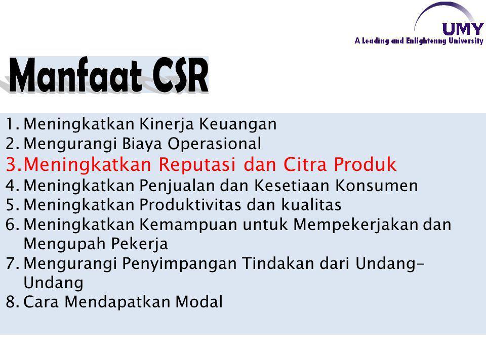 Manfaat CSR Meningkatkan Reputasi dan Citra Produk