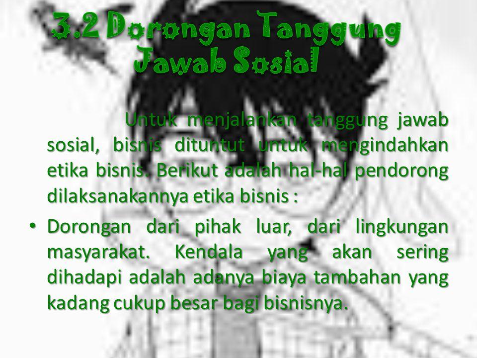 3.2 Dorongan Tanggung Jawab Sosial