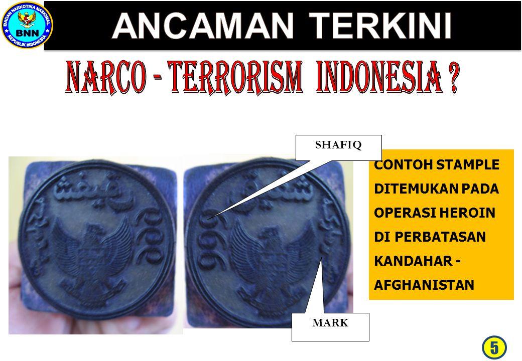 ANCAMAN TERKINI NARCO - TERRORISM INDONESIA 5