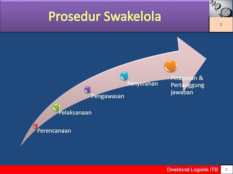 Prosedur Swakelola Pelaporan & Pertanggung jawaban Penyerahan