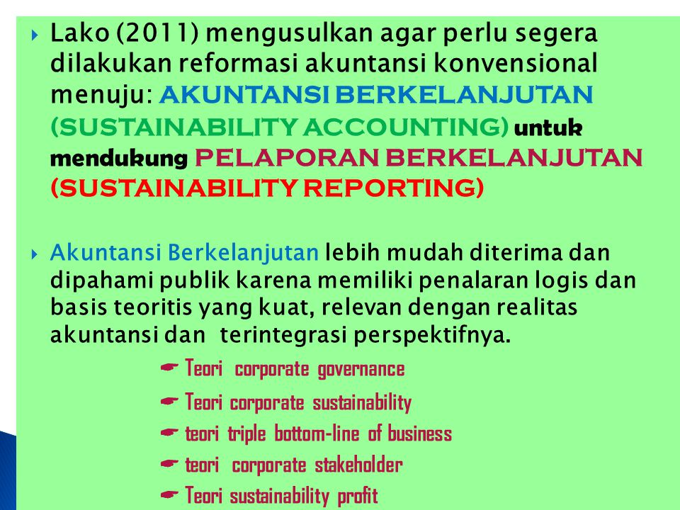  Teori corporate governance