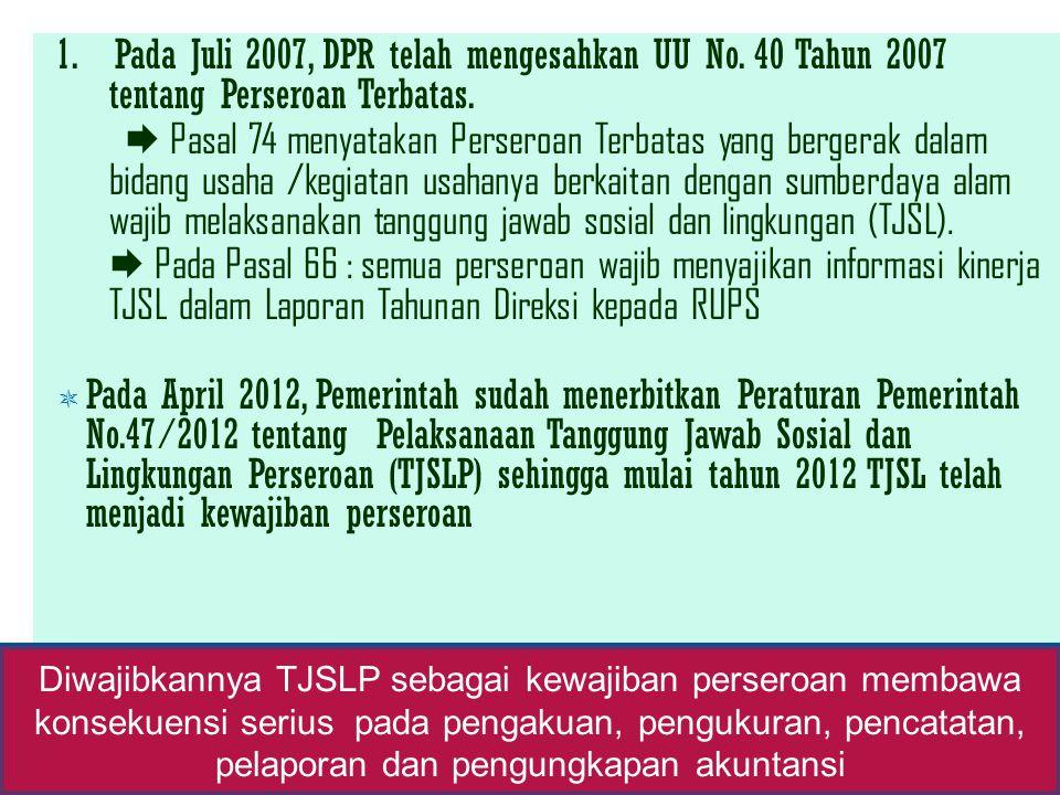 1. Pada Juli 2007, DPR telah mengesahkan UU No