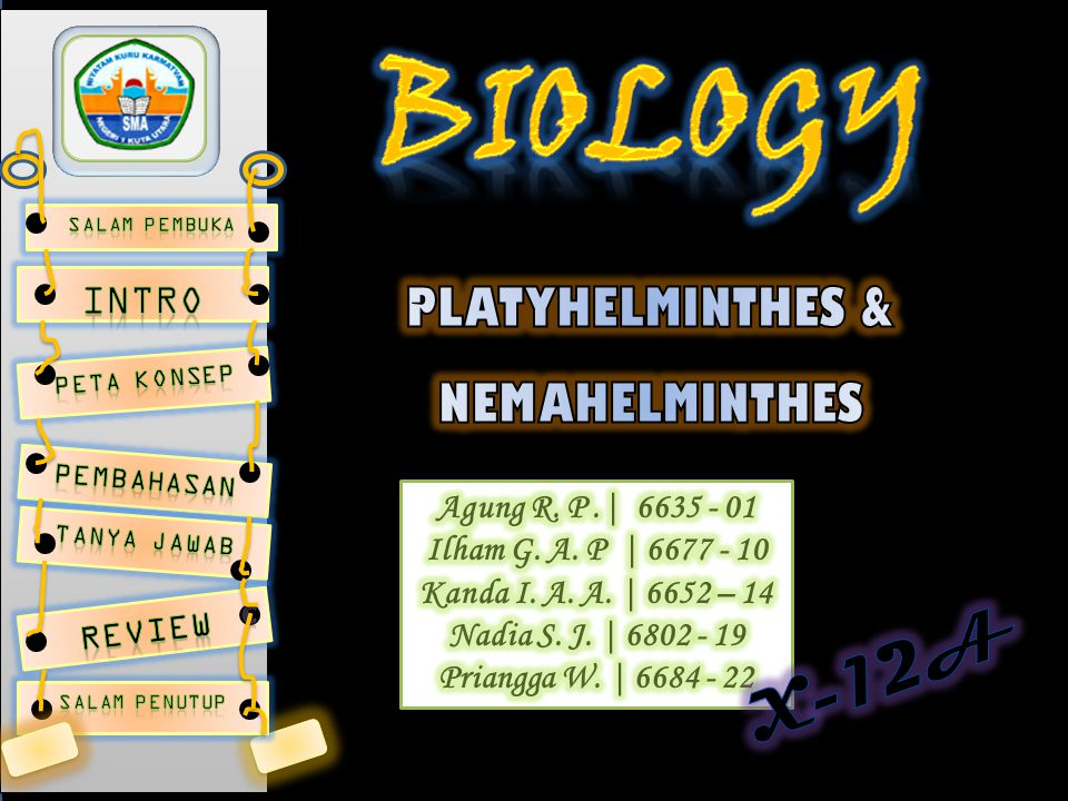 PLATYHELMINTHES & NEMAHELMINTHES