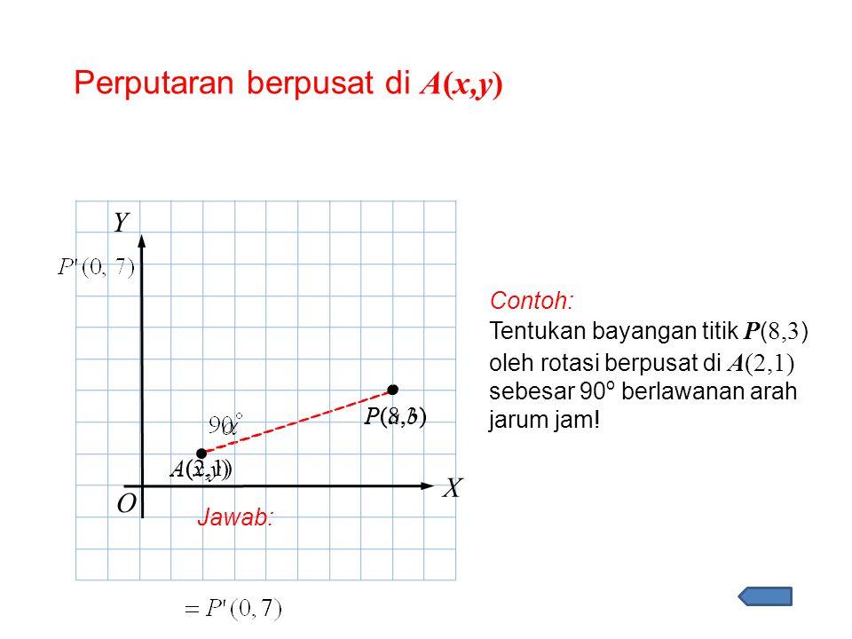 Perputaran berpusat di A(x,y)