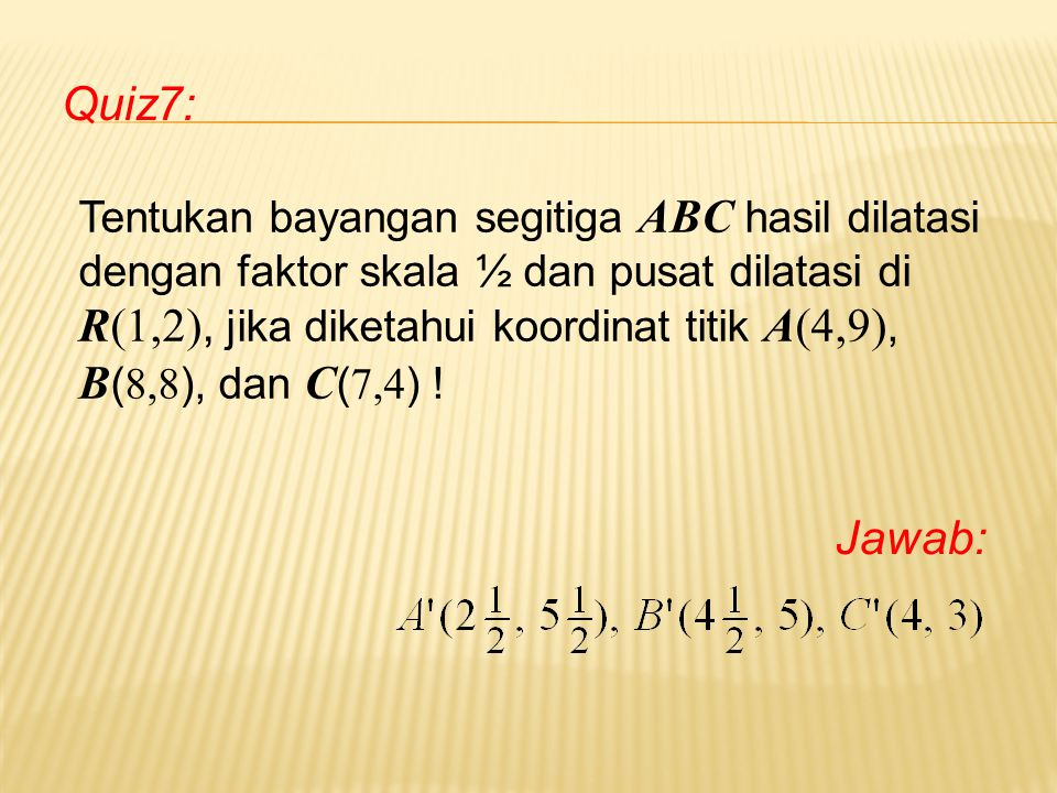 Quiz7: