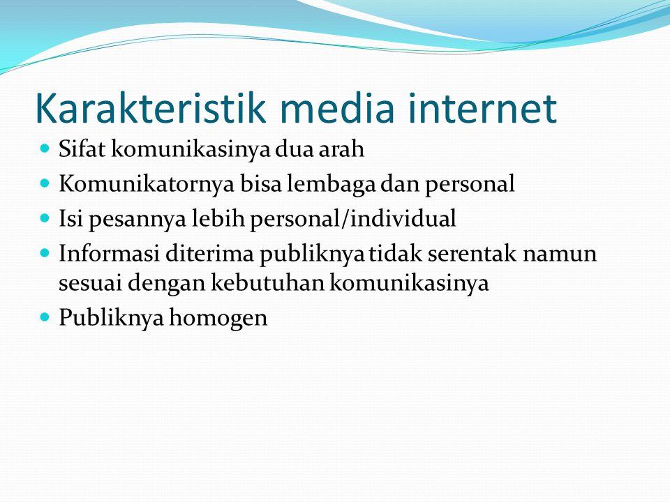 Karakteristik media internet