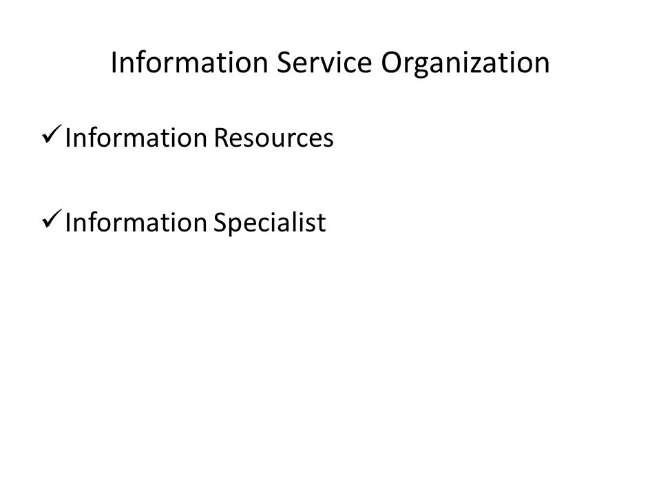 Information Service Organization