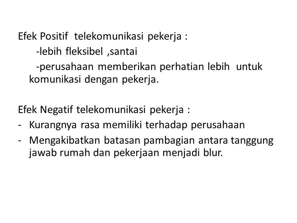 Efek Positif telekomunikasi pekerja :