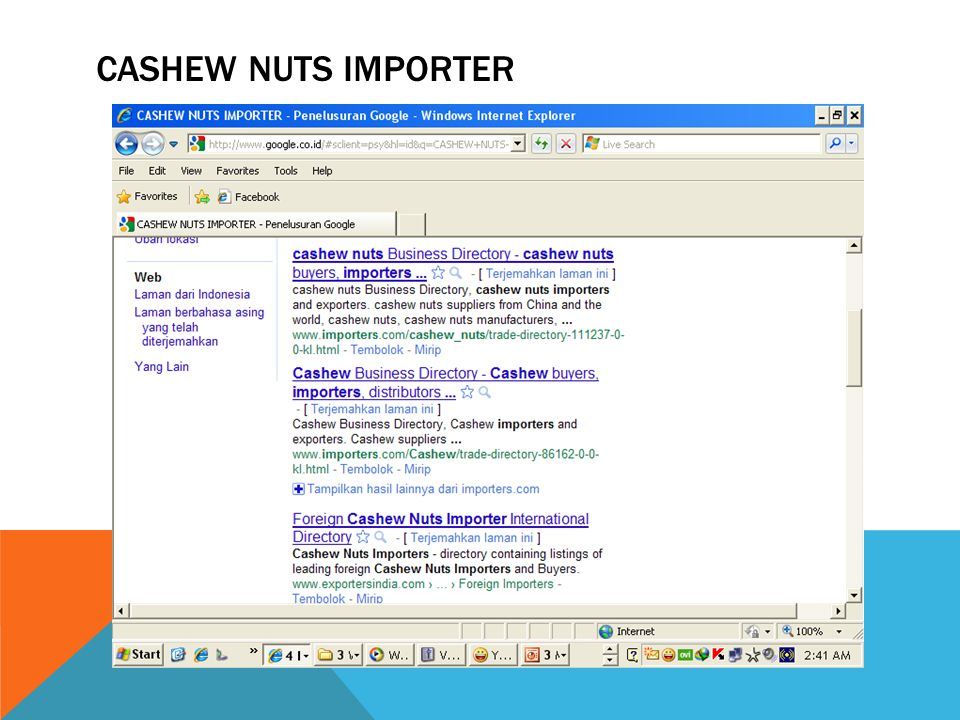 Cashew nuts importer