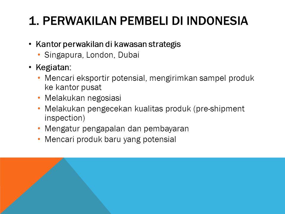 1. Perwakilan pembeli di Indonesia