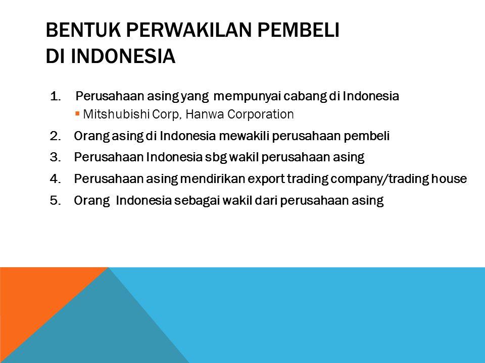 Bentuk perwakilan pembeli di indonesia