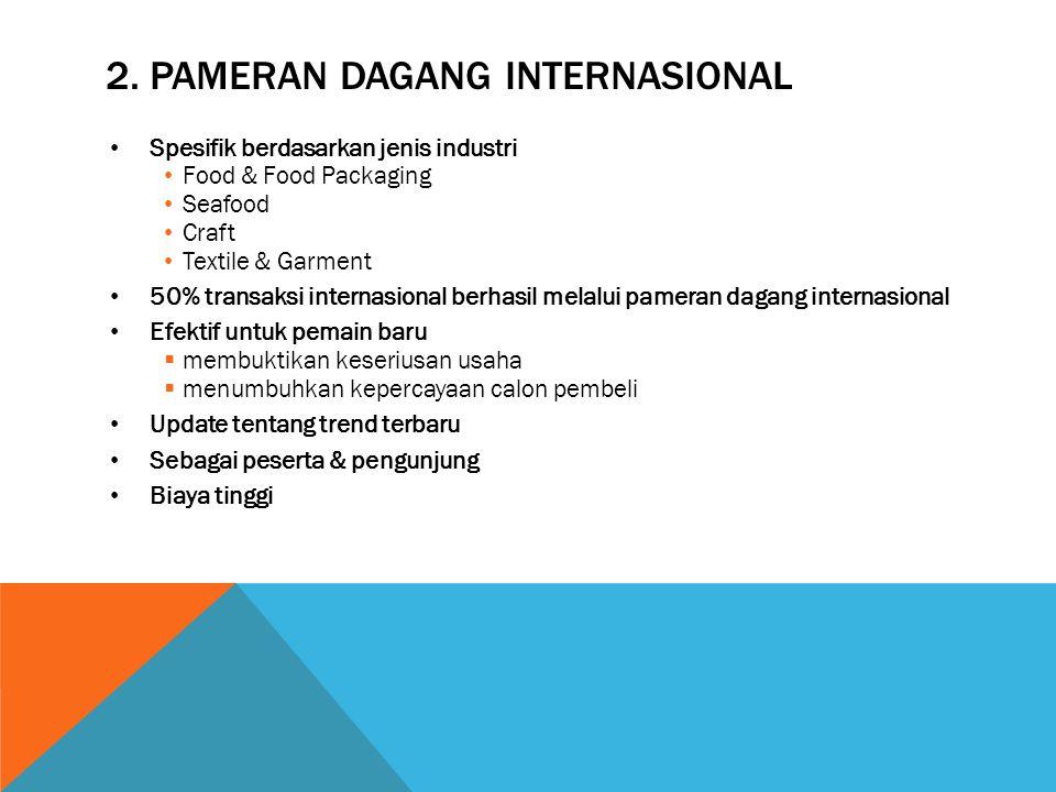 2. Pameran dagang internasional