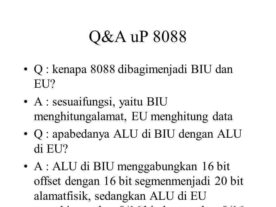 Q&A uP 8088 Q : kenapa 8088 dibagimenjadi BIU dan EU