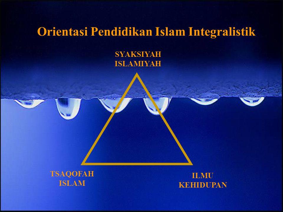 Orientasi Pendidikan Islam Integralistik
