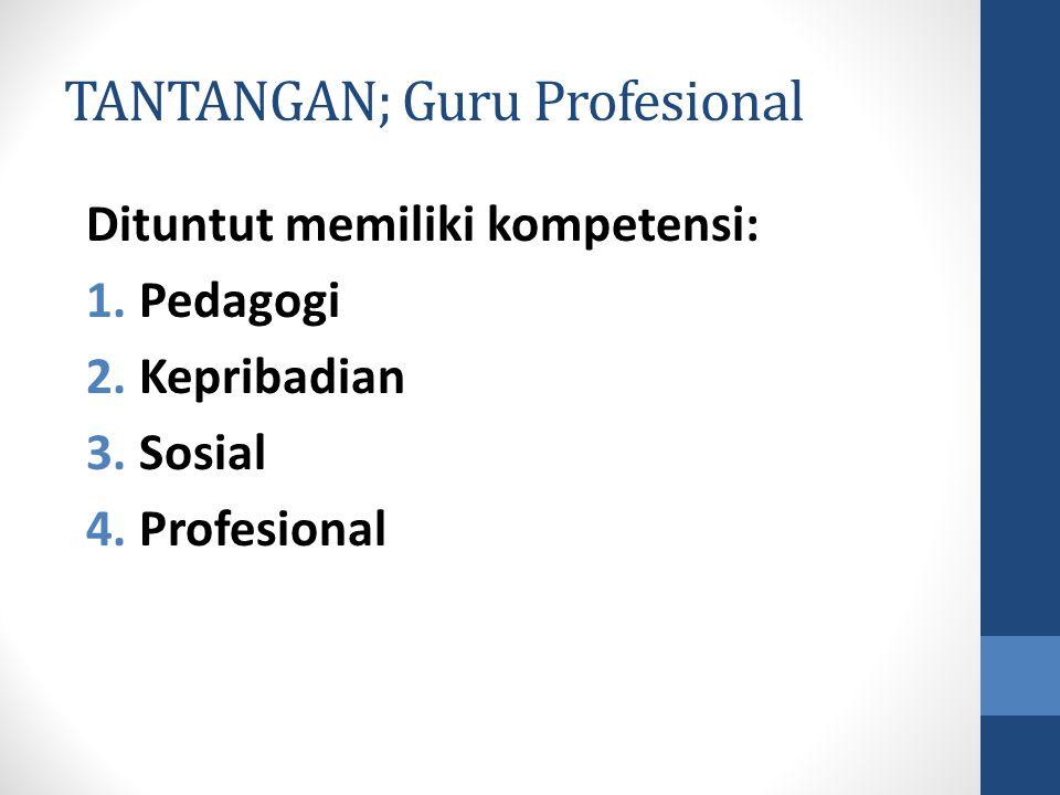 TANTANGAN; Guru Profesional