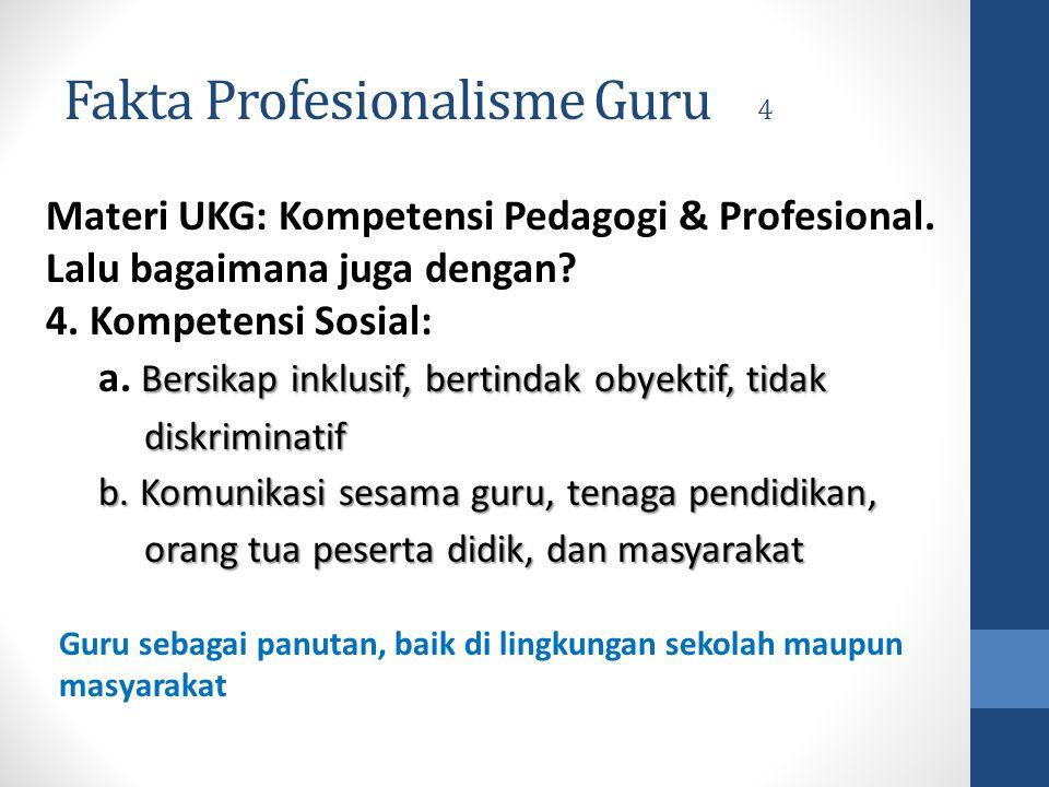 Fakta Profesionalisme Guru 4
