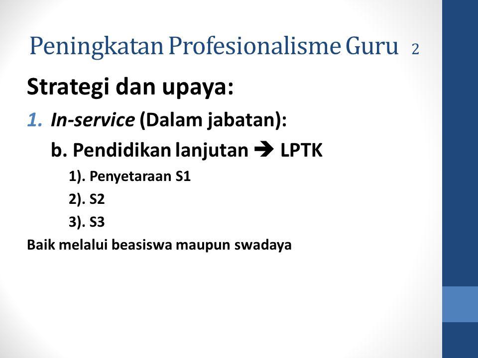 Peningkatan Profesionalisme Guru 2