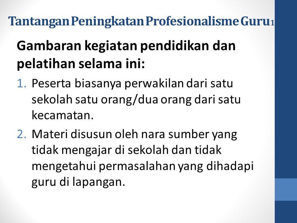 Tantangan Peningkatan Profesionalisme Guru1