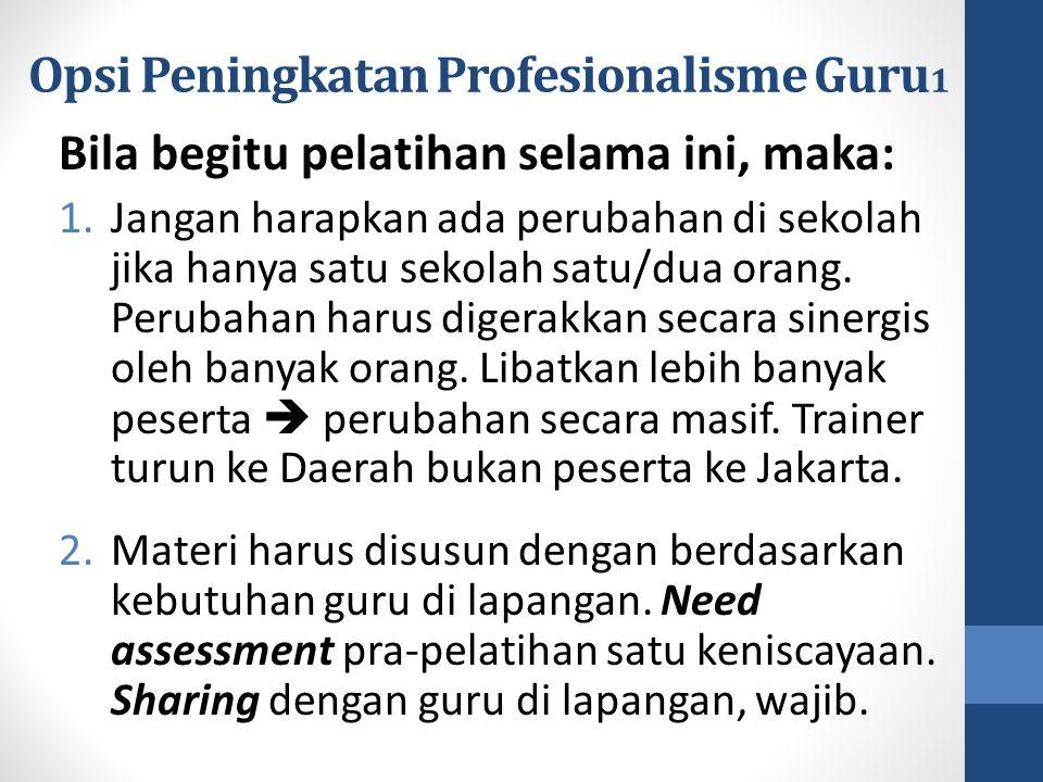 Opsi Peningkatan Profesionalisme Guru1