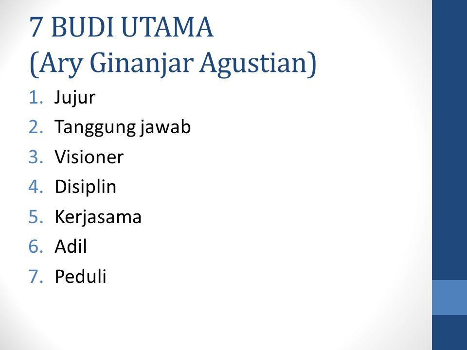 7 BUDI UTAMA (Ary Ginanjar Agustian)