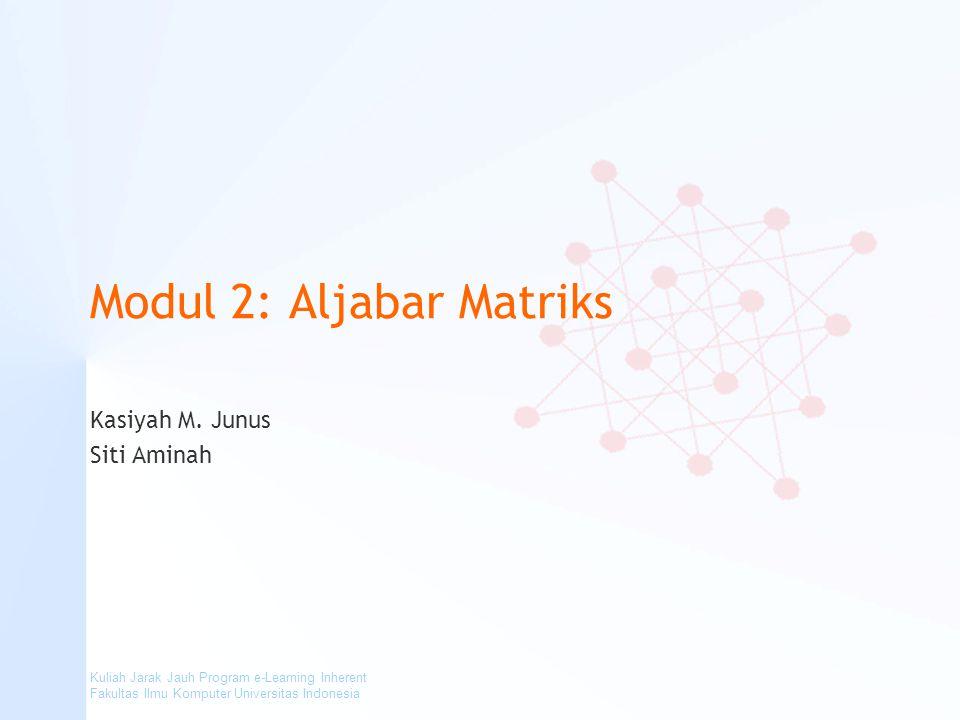 Modul 2: Aljabar Matriks