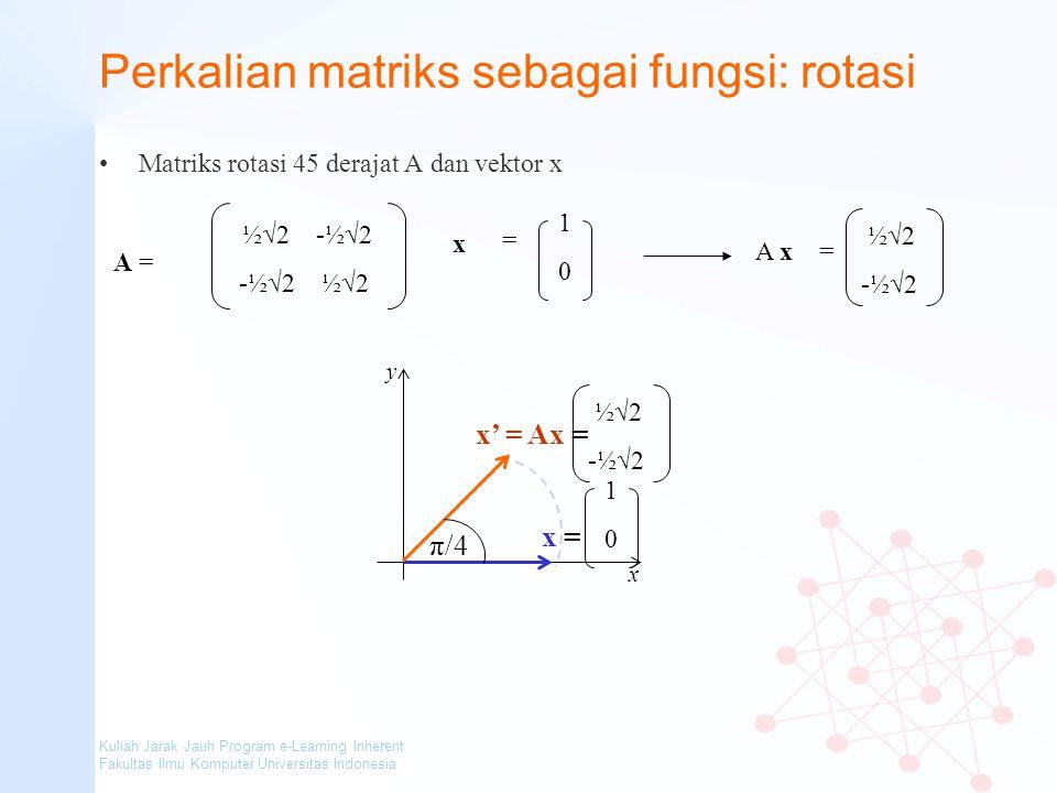 Perkalian matriks sebagai fungsi: rotasi