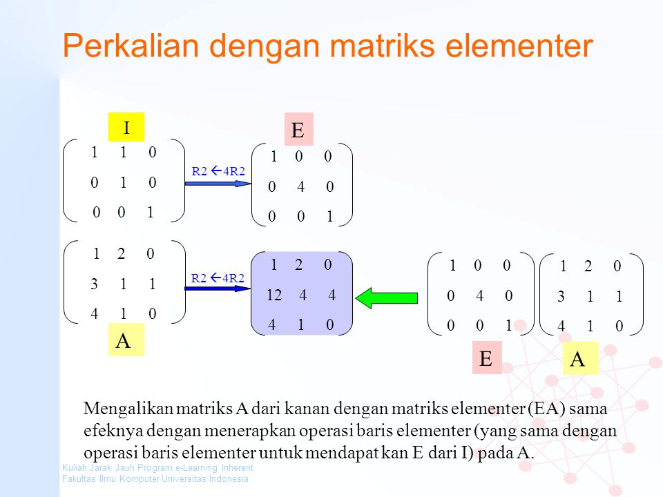 Perkalian dengan matriks elementer