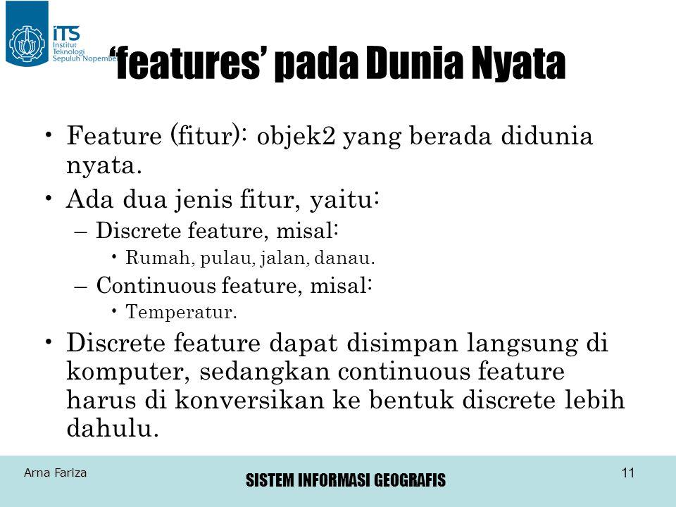 'features' pada Dunia Nyata