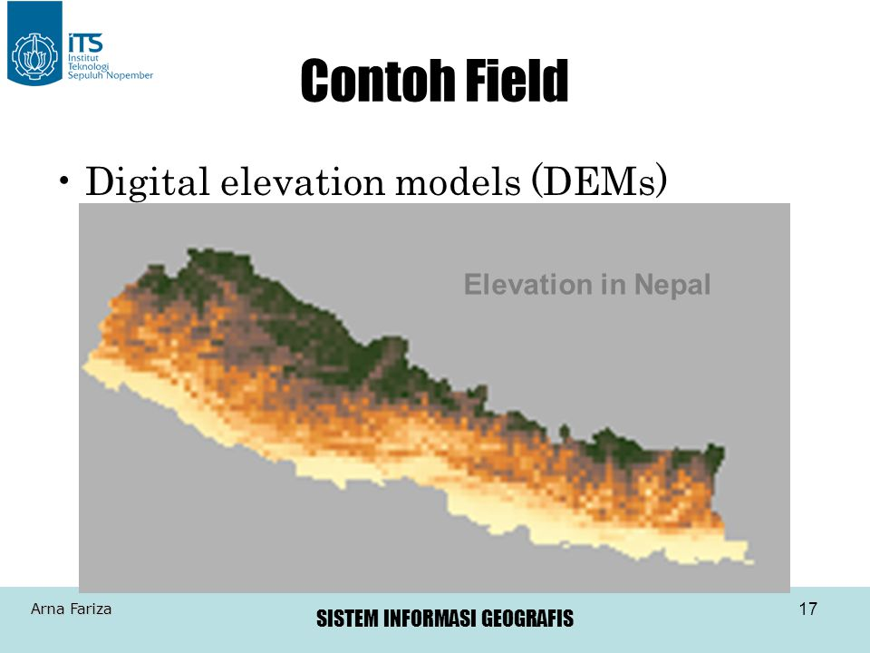 Contoh Field Digital elevation models (DEMs) Elevation in Nepal