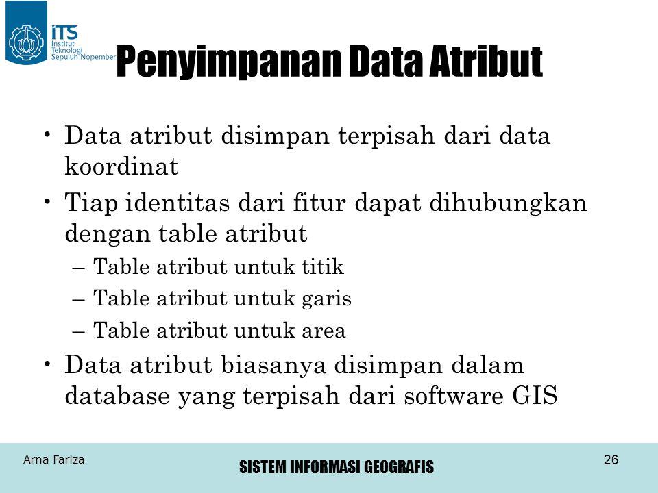 Penyimpanan Data Atribut