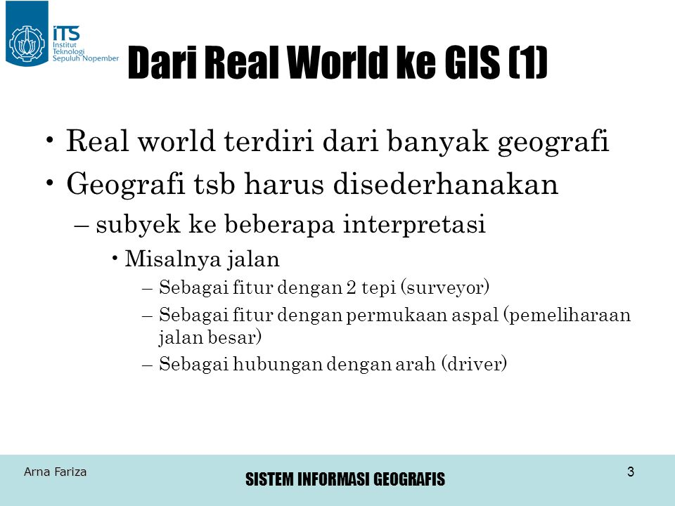 Dari Real World ke GIS (1)