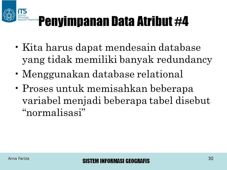 Penyimpanan Data Atribut #4